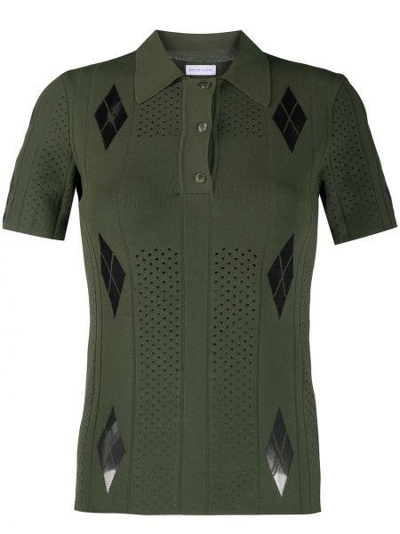 Czarna klasyczna koszula krótki rękaw z wiskozy Maison Ullens