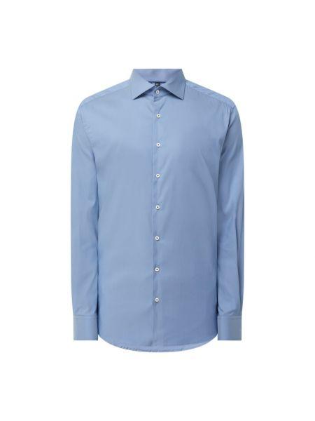Niebieska koszula z długimi rękawami Eterna