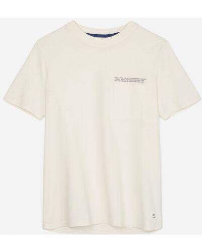 Biały T-shirt basic bawełniany vintage Marc O Polo