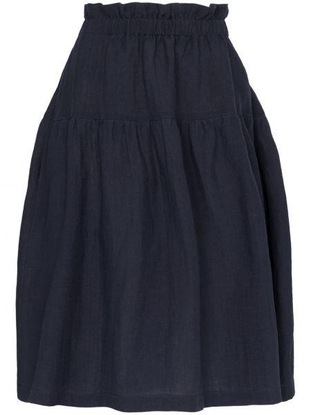 Синяя юбка миди в рубчик Araks