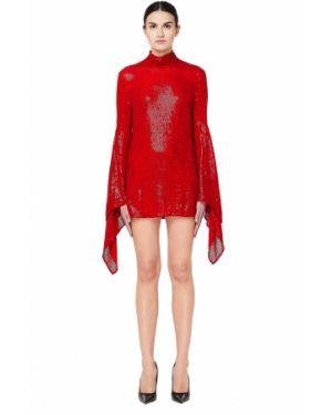 Платье макси длинное - красное Ashish