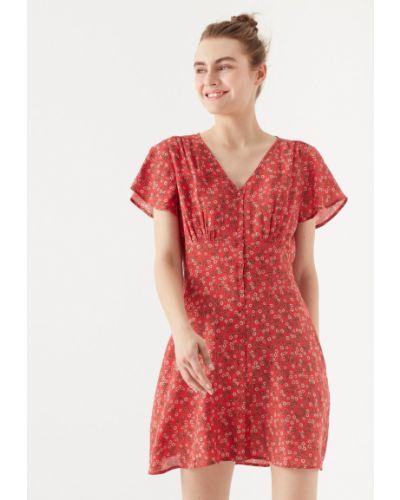 Красное платье из вискозы Mavi