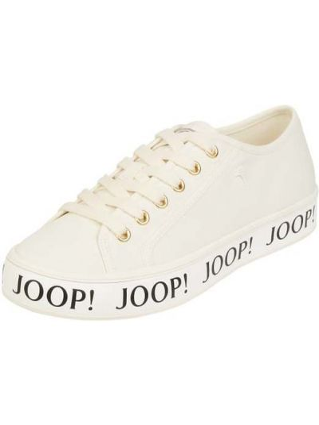 Białe sneakersy materiałowe Joop!