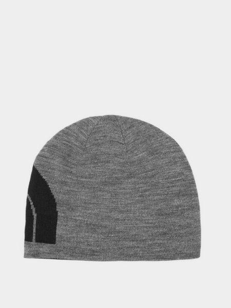 Трикотажная шапка бини - серая The North Face