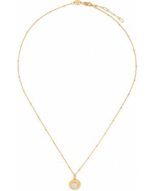 Желтая цепочка из серебра с жемчугом Northskull