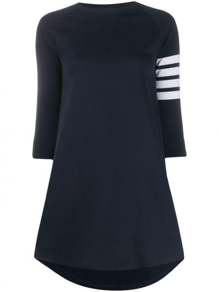 Klasyczna niebieska sukienka mini w paski Thom Browne