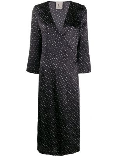 Платье миди с V-образным вырезом с рукавами Lautre Chose