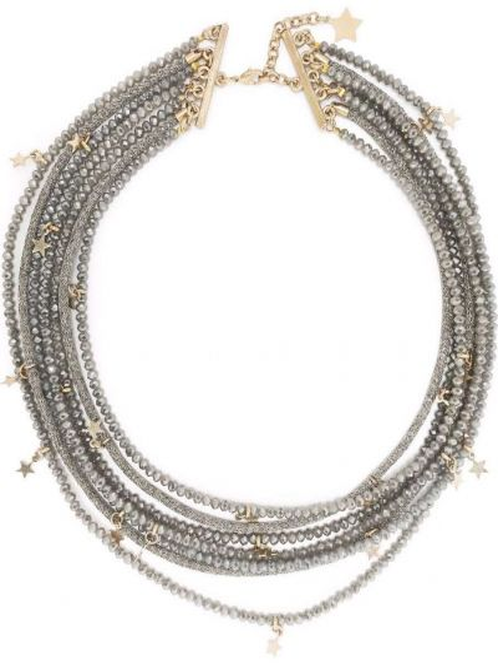 Серое ожерелье с бисером Lorena Antoniazzi