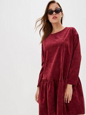 Платье бордовый прямое Ruxara
