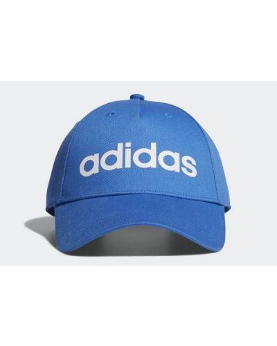 Niebieska czapka bawełniana na co dzień Adidas