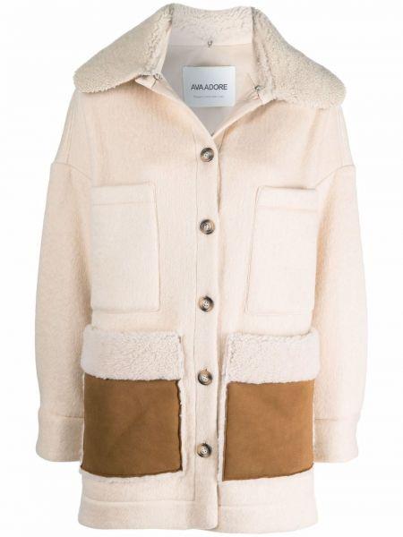 Бежевая куртка из полиэстера Ava Adore
