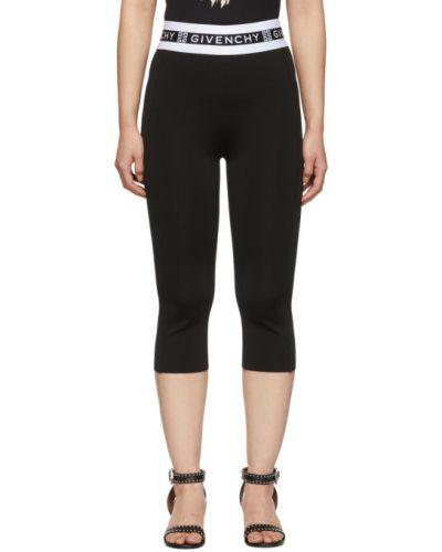 Golf czarny legginsy rozciągać w paski Givenchy