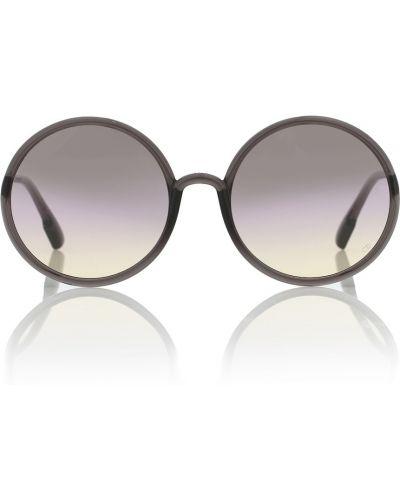 Муслиновые черные солнцезащитные очки круглые Dior Sunglasses