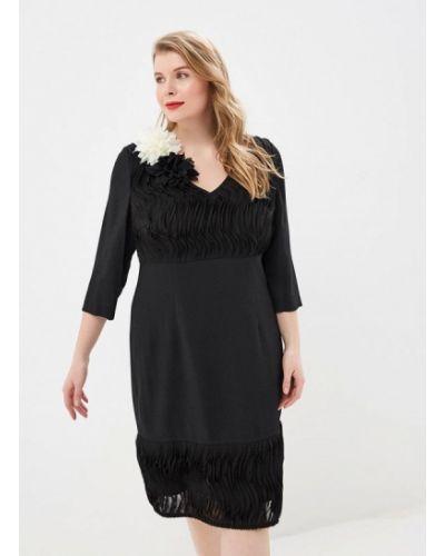 Вечернее платье осеннее черное Zar Style