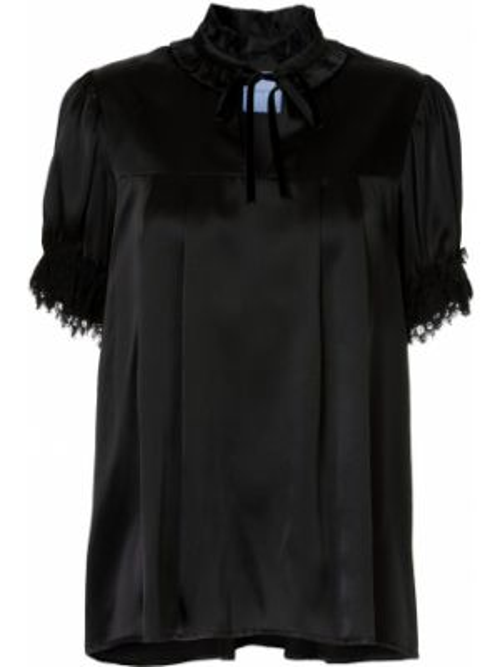 Блузка с рюшами шелковая Macgraw