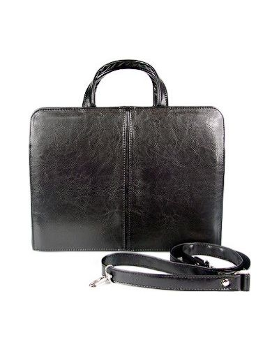 Кожаный портфель - черный A-art