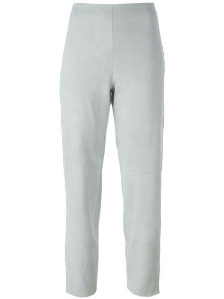 Укороченные брюки винтажные с воротником с поясом из овчины Kenzo Pre-owned