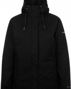 Городская нейлоновая черная утепленная куртка мембранная Columbia