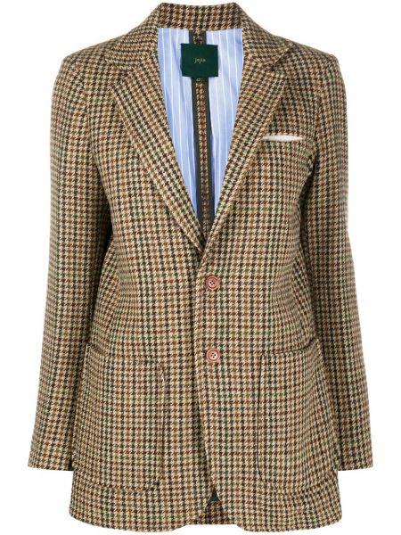Деловой классический пиджак твидовый на пуговицах Jejia
