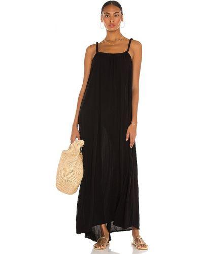 Czarna sukienka z haftem Tularosa