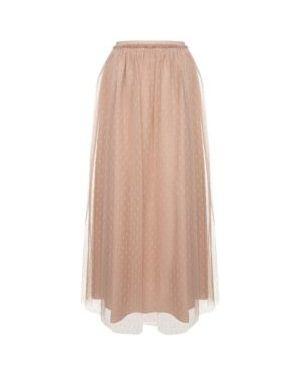 Ażurowa różowa spódnica maxi Red Valentino