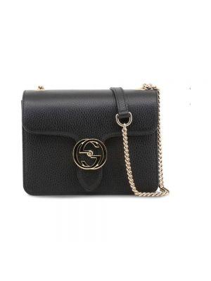 Czarna torebka crossbody skórzana elegancka Gucci