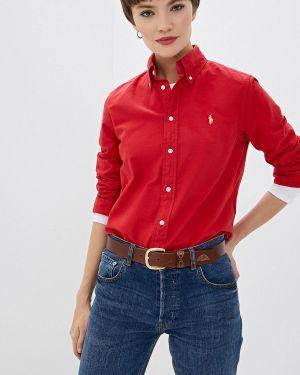 Рубашка с длинным рукавом индийский красный Polo Ralph Lauren