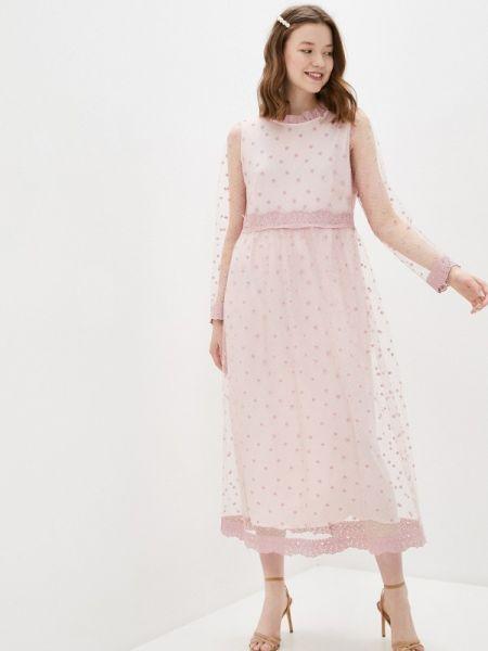Розовое вечернее платье Vera Moni