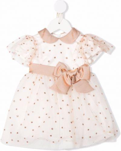 Brązowa sukienka w grochy Colorichiari
