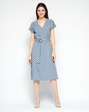 Платье с поясом с V-образным вырезом платье-сарафан Fiato