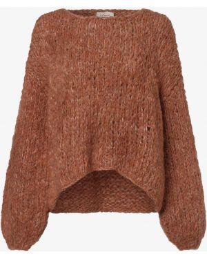 Pomarańczowy sweter moherowy Iheart