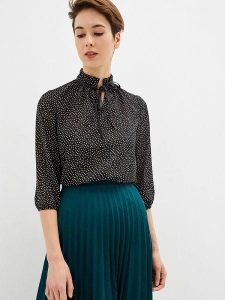 Блузка с длинным рукавом черная осенняя Sezoni