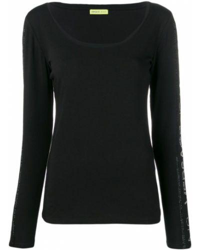 Черные брюки с поясом с манжетами Versace Jeans
