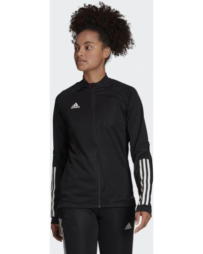 Черная тренировочная приталенная футбольная олимпийка Adidas