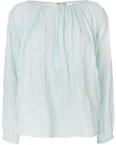 Блузка с вышивкой прозрачная Forte Forte