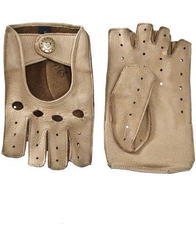 Кожаные перчатки бежевые Alpa Gloves