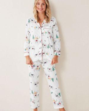 Пижама белая пижамный Women'secret