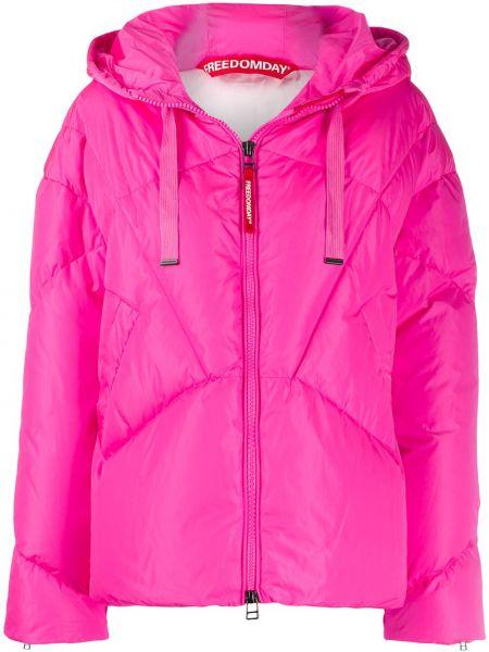 Różowa kurtka pikowana z nylonu Freedomday