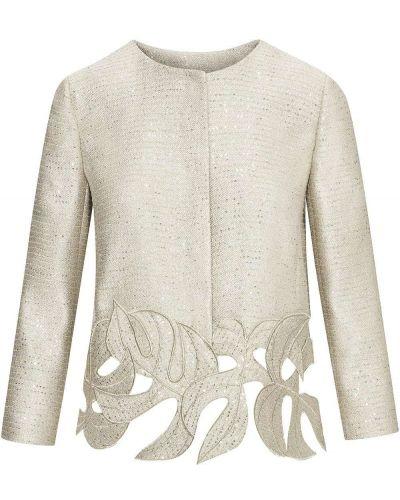 Пиджак с вышивкой из вискозы Oscar De La Renta