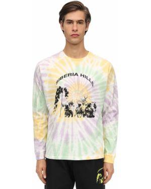 Prążkowany t-shirt z długimi rękawami bawełniany Siberia Hills