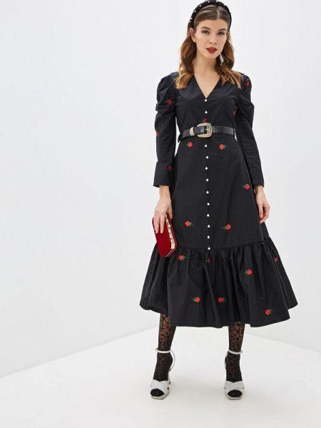 Вечернее платье весеннее черное Sister Jane