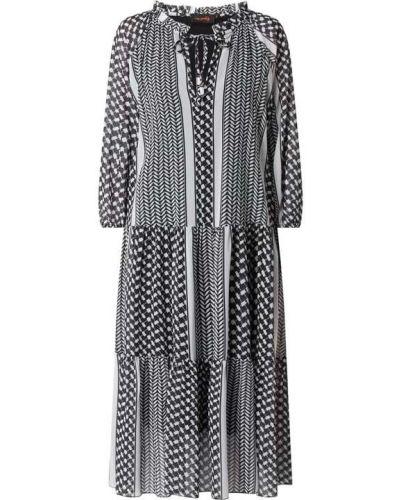 Sukienka rozkloszowana z wiązaniami - czarna Miss Goodlife