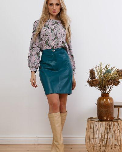 Кожаная юбка мини Leleya
