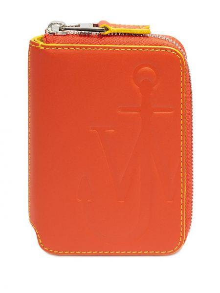 Pomarańczowy portfel skórzany Jw Anderson