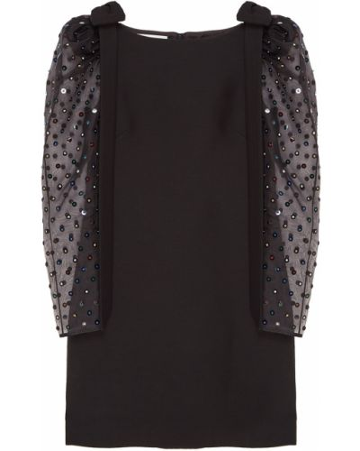 Коктейльное платье с бисером шелковое Valentino