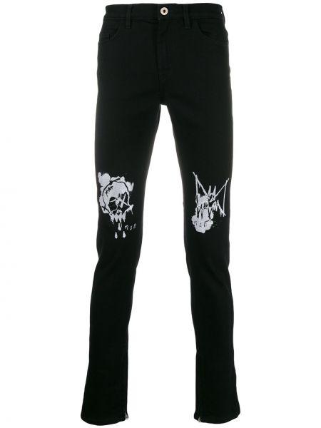 Czarne jeansy bawełniane z paskiem Mjb Marc Jacques Burton