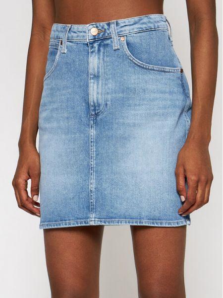 Spódnica jeansowa - granatowa Wrangler