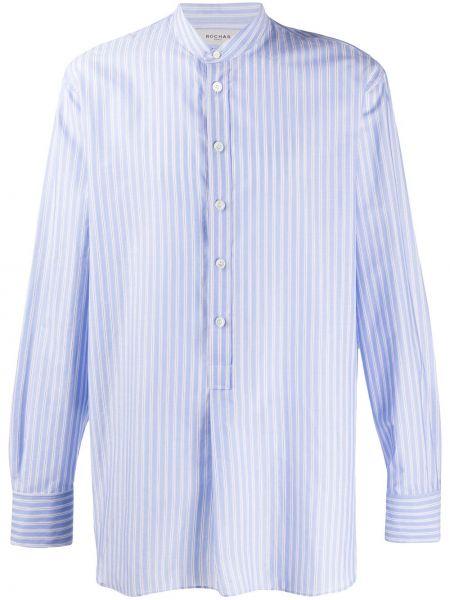 Niebieska koszula bawełniana w paski Rochas