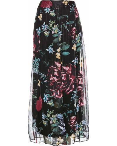 Юбка на пуговицах с цветочным принтом Bonprix