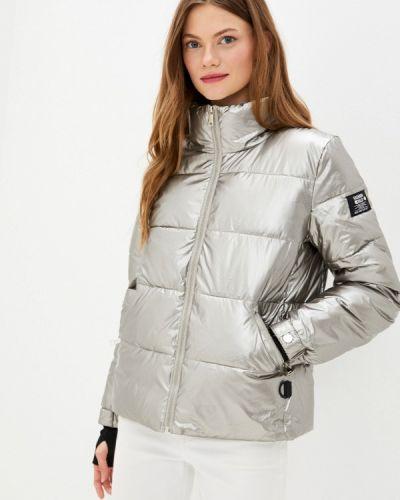 Серебряная теплая куртка Fadjo